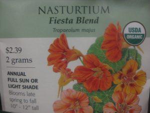 Nasturtium seed packet