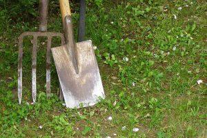 spading fork & spade