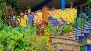 succulent garden and mosaic wall of Ray Elder, Woodland   Hills